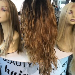 Accessories - Wig Long Blonde Mix messywavy Swisslace Lacefront